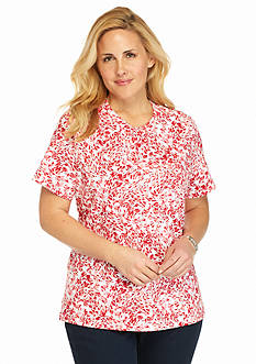Kim Rogers Plus Size Floral Breeze Tee