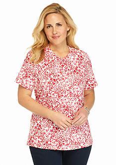Kim Rogers Plus Size Floral Breeze Tee