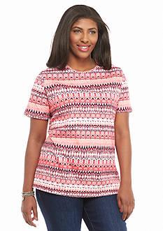 Kim Rogers Plus Size Rain Chevron Knit Top