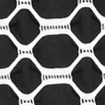 Kim Rogers Women's Plus Sale: Black/White Kim Rogers Plus Size Three Quarter Sleeve Horseshoe Knit Top