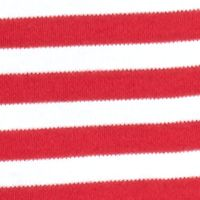 Kim Rogers Women's Plus Sale: Red/White Kim Rogers 3/4 Sleeve Tunic With Stripes