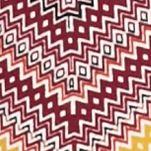 Kim Rogers Women's Plus Sale: Sangria Combo Kim Rogers Plus Size Three Quarter Sleeve Chevron Splice Top