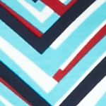 Women's Plus: Kim Rogers Tops: Turquoise/Red Kim Rogers Plus Size Solid Bio Chevron Print Top