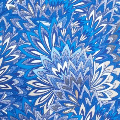 Kim Rogers Women's Plus Sale: Delta Blue Combo Kim Rogers Plus Size Solid Bio Feather Print Top