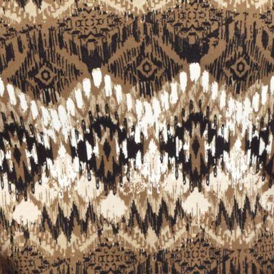 Kim Rogers Women's Plus Sale: Khaki Cmbo Kim Rogers Plus Size 3/4 Sleeve Square Neck Top