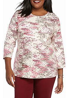 Kim Rogers 3/4 Sleeve Crew Knit Top