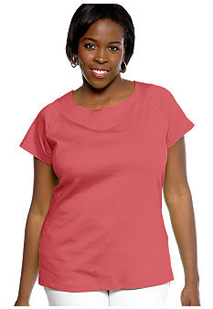 Kim Rogers Plus Size Solid Marilyn Knit Top