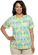 Kim Rogers® Plus Size Medallion Crew Neck Tee