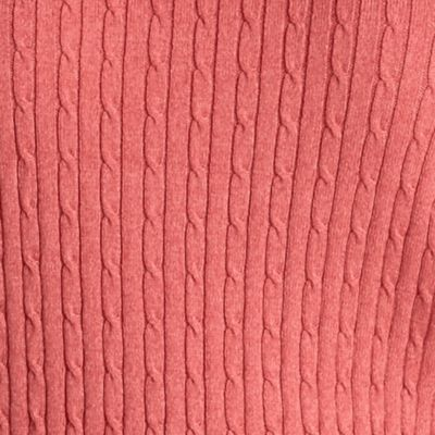 Kim Rogers Plus Size Clothing: Red Tonal Kim Rogers Plus Size Cable Knit V-Neck Sweater