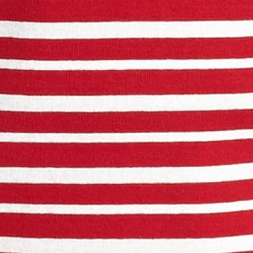 Women's Plus: Kim Rogers Tops: Red/Ivory Kim Rogers Plus Size Striped Flap Pocket Henley Tee