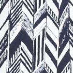 Kim Rogers Women's Plus Sale: Navy/White Kim Rogers Plus Size Embroidered Yoke Herringbone Print Tank