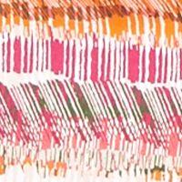 Plus Size Basic Tops: Pink/Orange Kim Rogers Plus Size Hash Mark Stripe Square Neck Top