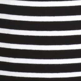 Plus Size Tees: Black/White Kim Rogers Plus Size Stripe Splice Tee