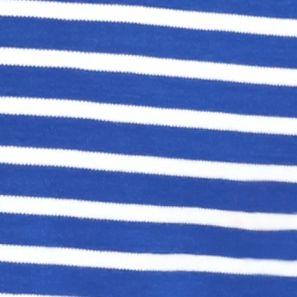 Plus Size Tees: Blue King/White Kim Rogers Plus Size Stripe Splice Tee