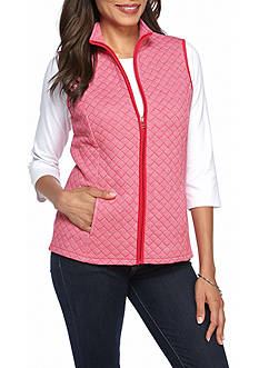 Kim Rogers Quilted Knit Vest