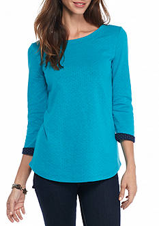 Kim Rogers Double Knit Boat Neck Top
