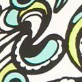 Button Down Shirts for Women: Green Combo Kim Rogers Jubilee Swirl Woven Tank