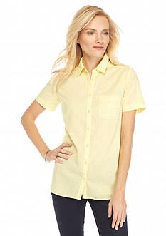 Kim Rogers Solid Linen Camp Shirt