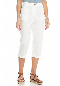 Kim Rogers Lace Trim Pocket Capris