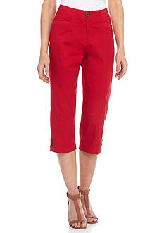 Shorts & Capris: Womens Red Capris & Skimmers | Belk