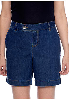 Kim Rogers Denim Tab Button Short