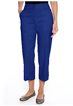 Kim Rogers® Banded Bottom Capri