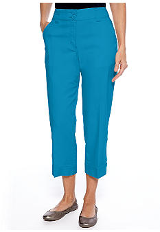 Kim Rogers Banded Bottom Capri