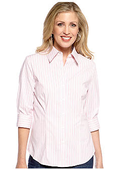 Kim Rogers Striped Woven Shirt