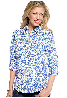 Kim Rogers Party Brocade Print Woven Shirt