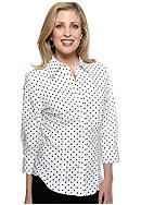 Kim Rogers® Three Quarter Polka-Dot Button Up
