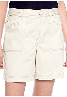 Kim Rogers Short With Knit Pocket Trim