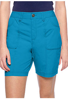 Kim Rogers Embroidery Detailed Pocket Shorts