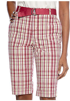 Kim Rogers Classic Vineyard Plaid Bermuda