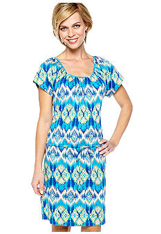 Kim Rogers Tandra Print Dolman Sleeve Dress