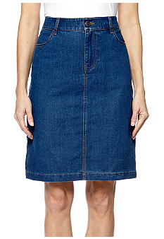 Kim Rogers Stretch Denim Skirt