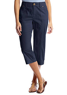 Kim Rogers® 3-Button Snap Capri