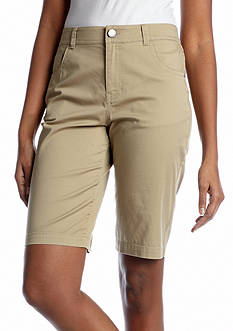 Kim Rogers® Basic Embroidered Bermuda