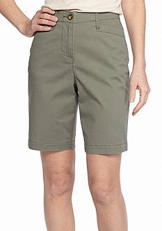 Kim Rogers Basic Pocket Bermuda Shorts