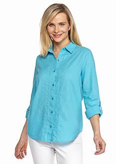 Kim Rogers Solid Linen Shirt