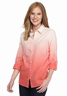 Kim Rogers Dip Dye Linen Shirt