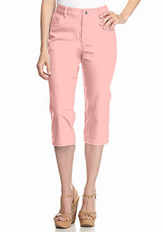 Kim Rogers Solid Super Stretch Capri Pants