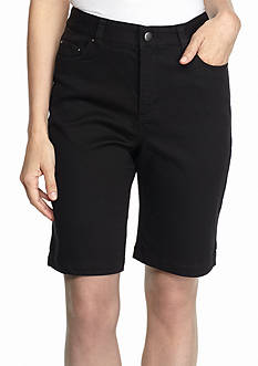 Kim Rogers Solid Stretch Bermuda Shorts
