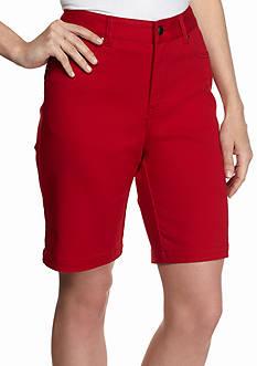 Kim Rogers Solid Stretch Bermuda Shorts