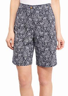 Kim Rogers Paisley Bermuda Shorts