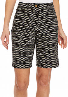Kim Rogers Geometric Bermuda Shorts