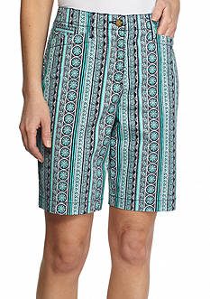 Kim Rogers Mixed Print L-Pocket Bermuda Shorts