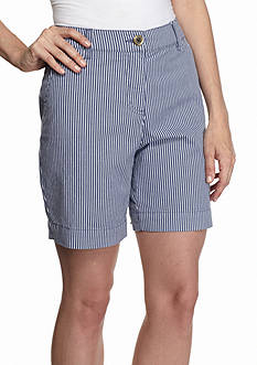 Kim Rogers Striped Comfort Waist Shorts