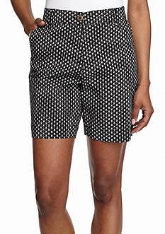 Kim Rogers Printed Comfort Waist Shorts