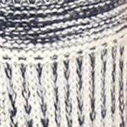 Women: Vest Sale: Blue Combo Kim Rogers Novelty stitch open front sweater vest