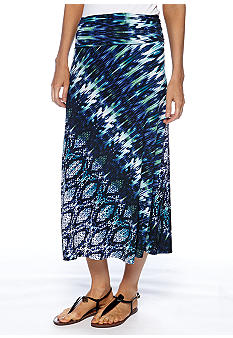 Sunny Leigh Printed Fold Over Maxi Skirt
